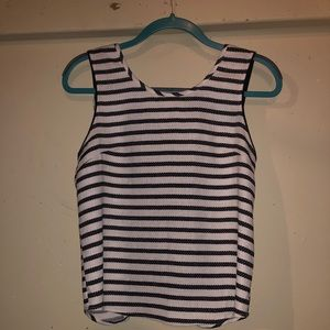 Tops - Black and white tank top